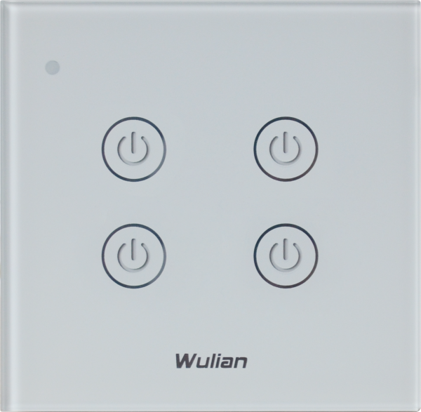 Wireless_Wall_Touch_Switch(Quadruple_keys) Home Automation Dimmer and switches